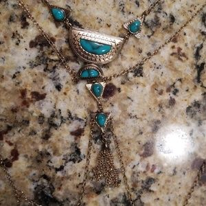 Long Turquoise Costume Jewelry Park Lane Necklace◇
